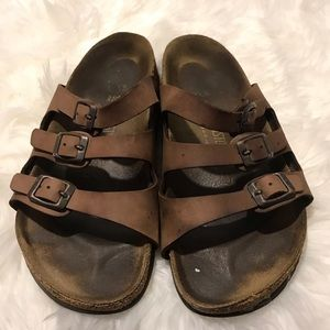 Size 38 Tan Birkenstock's sandals